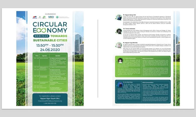 "Webinar: ""Circular economy towards Sustainable cities"", 24/6/2020, jointly organized by VGBC, Eurocham, VCCI and VBCSD"