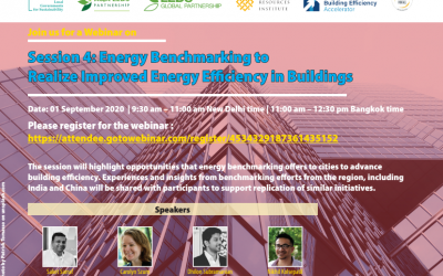 Webinar: Energy Benchmarking to realize improved Energy Efficiency in Buildings, 1/9/2020