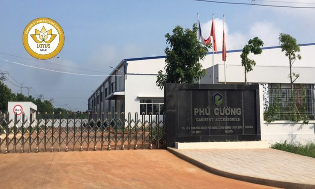 Phu Cuong Garment Accessories Factory awarded LOTUS Gold green building certification